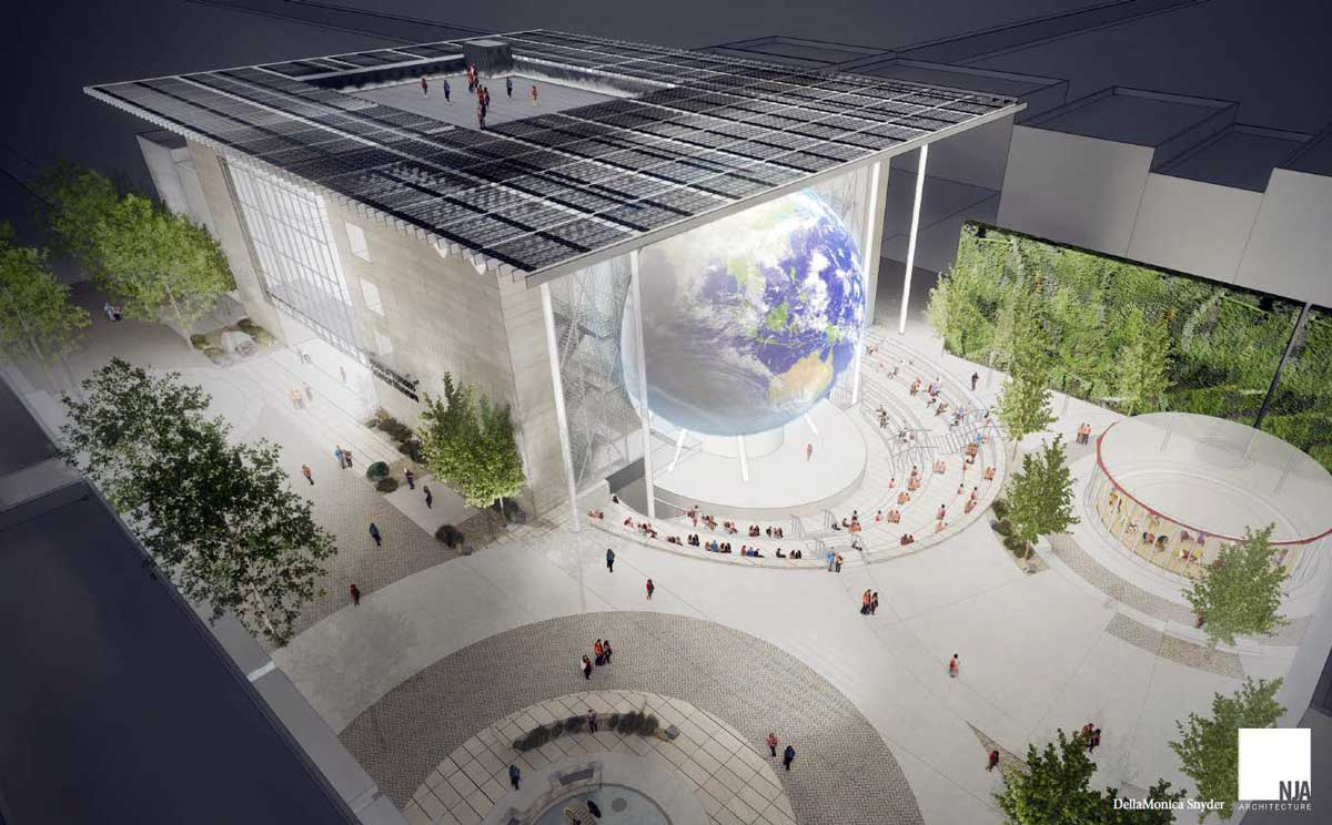 Architectural rendering of World of Wonders Science Plaza