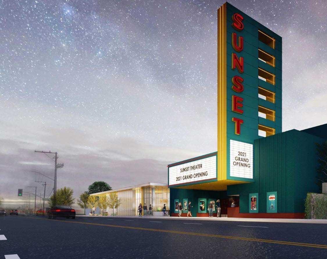 Sunset Cinema Rendering